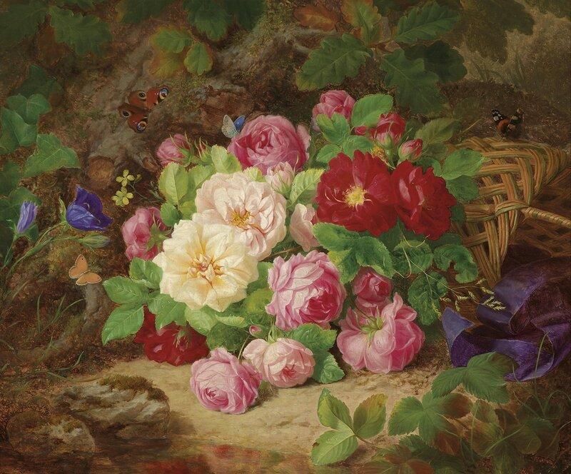 Букет роз в лесу