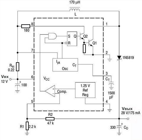 Повышающий стабилизатор напряжения (МС33063А/МС34063А) 0_1389de_21b77459_orig