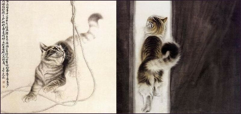 Кошки китайского художника Сюй Синьци