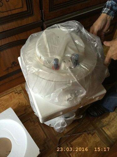 Распаковываем новый водонагреватель