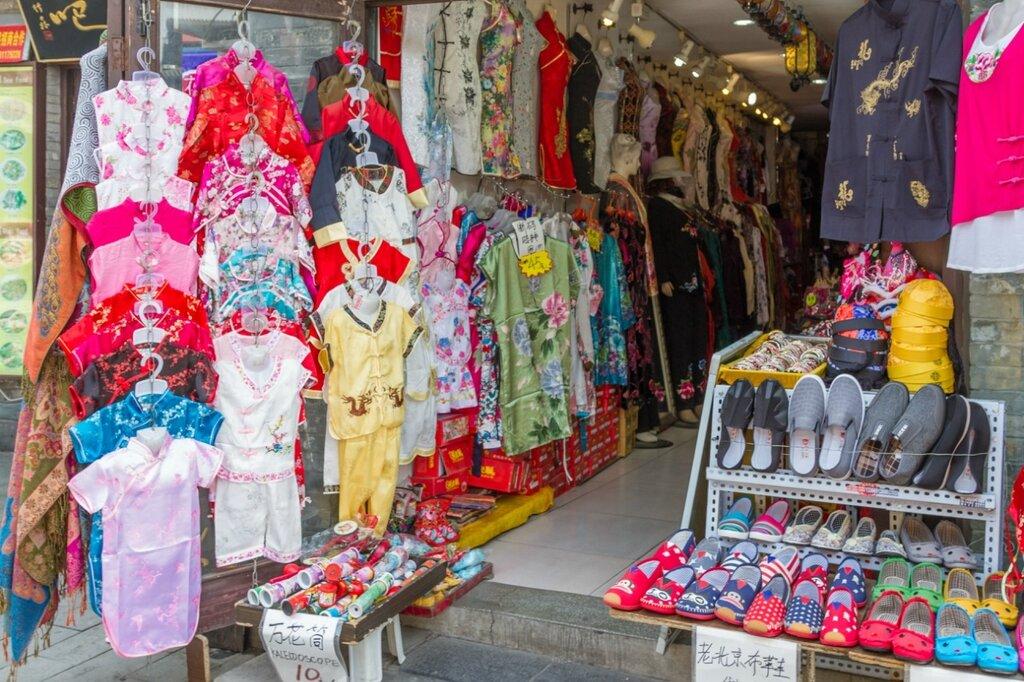 Магазин с одеждой в традиционном китайском стиле, Пекин