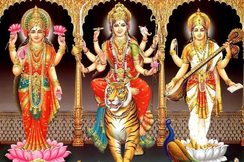 Женские индийские боги