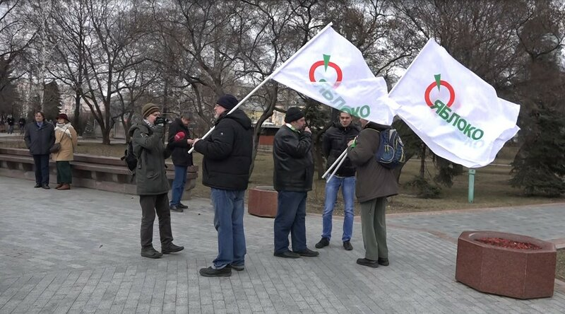 Митинг протеста дальнобойщиков против системы Платон в Москве