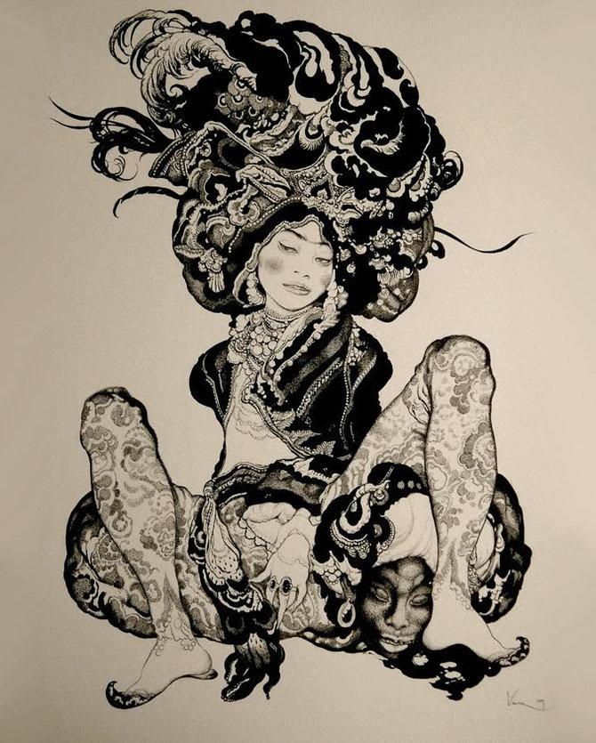 Секс рисунки художника пандора