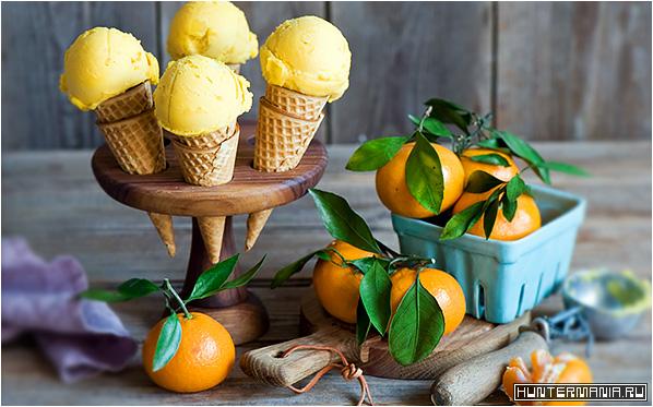 Вкусное мандариновое мороженое (рецепт)