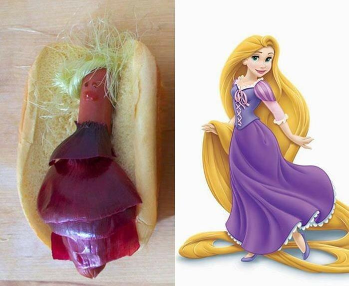Теперь их можно съесть: диснеевские принцессы превратились в хот доги и это забавно