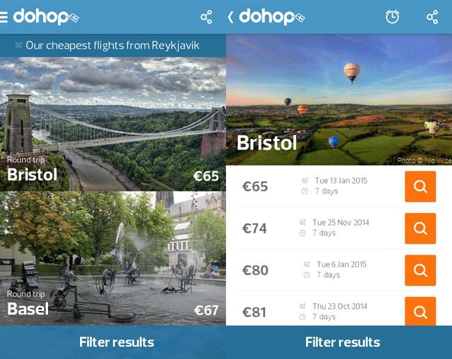 Интернет-платформа поможет организовать спонтанный инедорогой полет. Dohop найдет расписание рейсов
