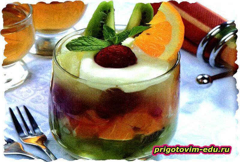 Десерт из киви и апельсинов