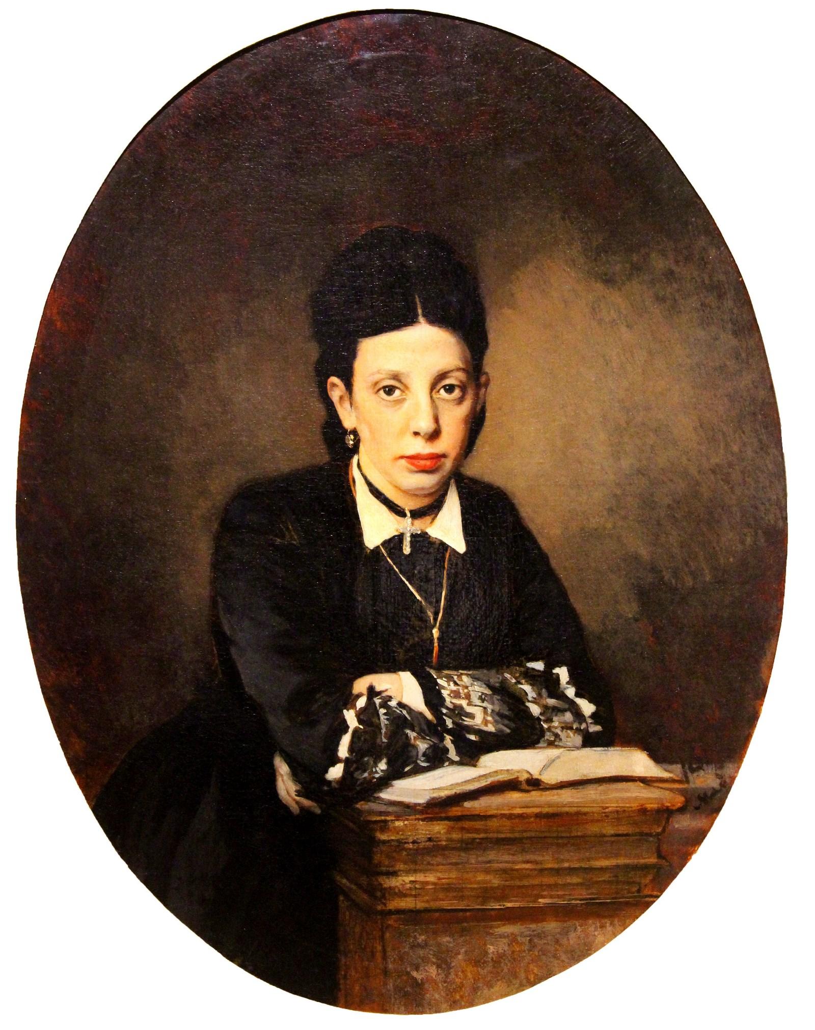 Чистяков П.П. 1832-1919 Женский портрет. 1872 Холст, масло. Национальный художественный музей Республики Беларусь