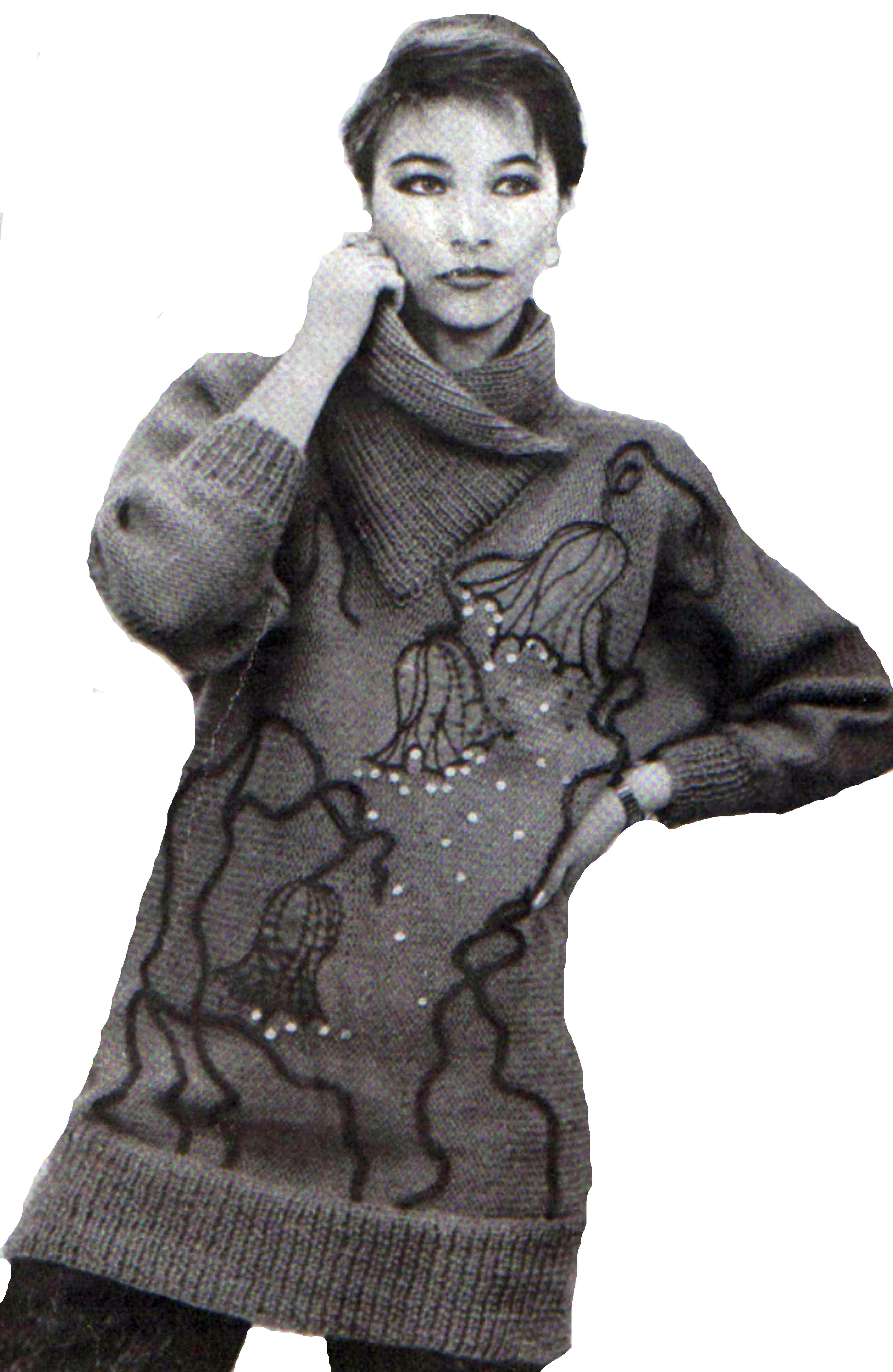 сиреневый свитер (схема, описание)