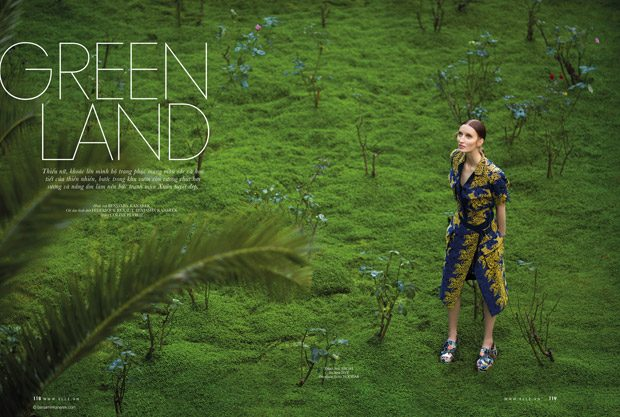Greenland: Hazel Townsend Stars in ELLE Vietnam February 2017 Issue
