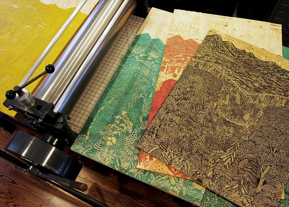 Three years in the making, we first teased this phenomenal new woodcut print titled Overlook from Va