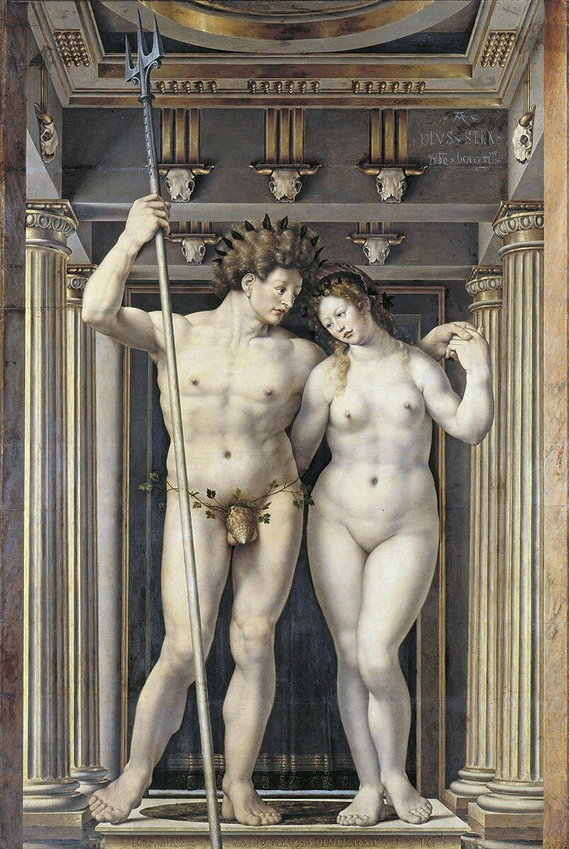"Jan Gossaert, ""Neptune and Amphitrite"""