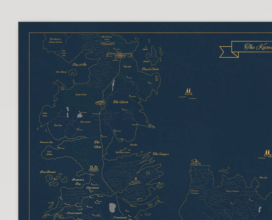 Precise Game of thrones Map by Dean Smith
