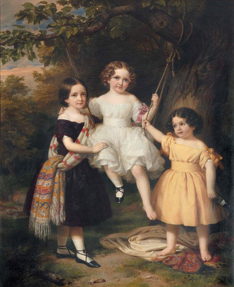 Barabás Daughters of the Artist 1849