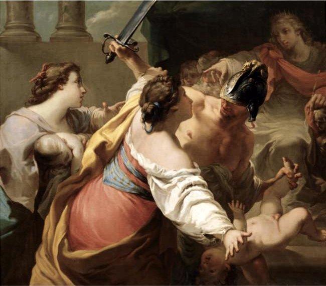 'The_Judgement_of_Solomon',_oil_on_canvas_painting_by_Gaetano_Gandolfi,_mid_1770s.jpg