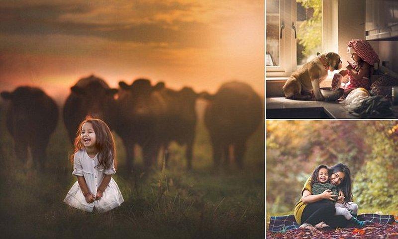 Мать-фотограф делает замечательные снимки дочери