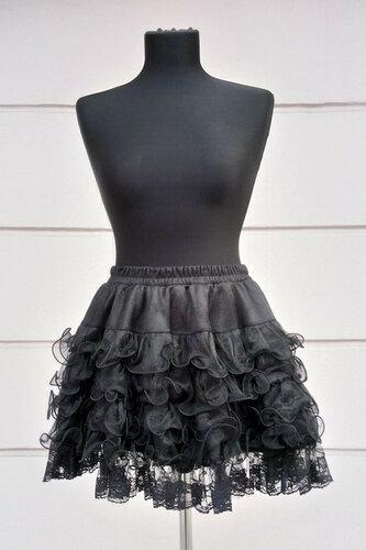 Женский карнавальный костюм Юбка черная волна