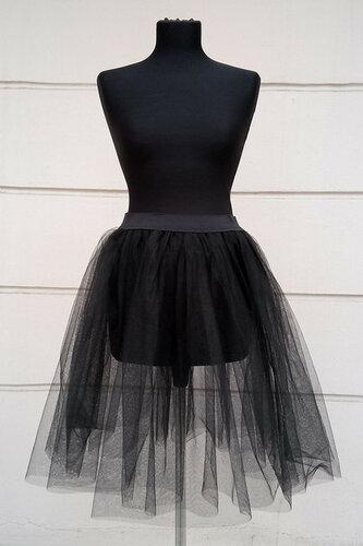 Женский карнавальный костюм Юбка черная кружево