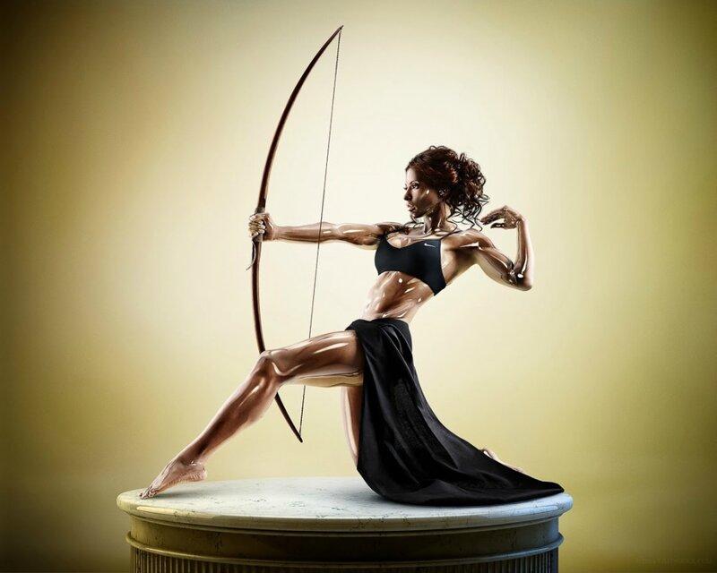 Вспоминая титанов: фотографии спортсменов в виде фарфоровых статуэток