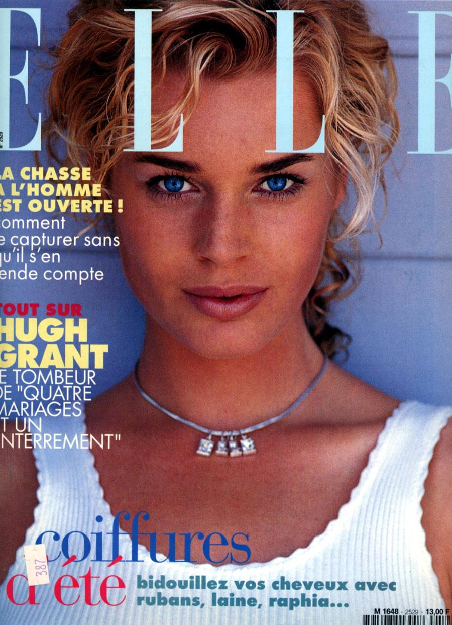 24.1994 год. 22-летняя Ребекка Ромейн на обложке Elle.