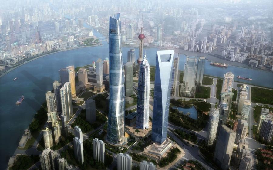 2. Шанхайская башня Это 121-этажное здание начало строиться в Китае в 1993-м году. Сейчас в нем веду
