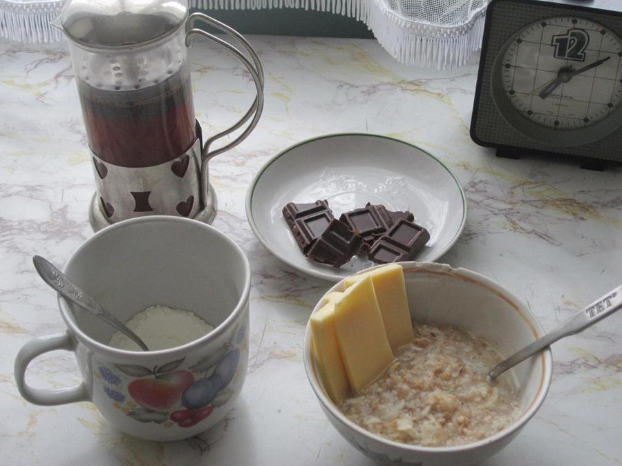 9. Завтрак мой, считаю, прекрасен. В этом месте вообще начинаешь ценить какие-то простые вещи, надел