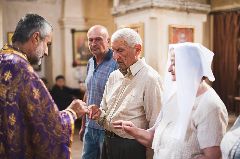 Церемония прошла в одной из церквей города Телави, рядом с домом, где пара прожила 55 лет.