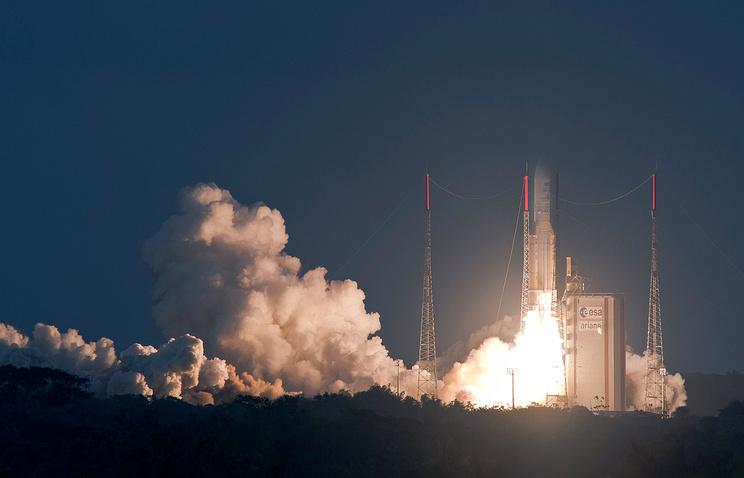 РНAriane-5 стартовала сэкваториального космодрома Куру