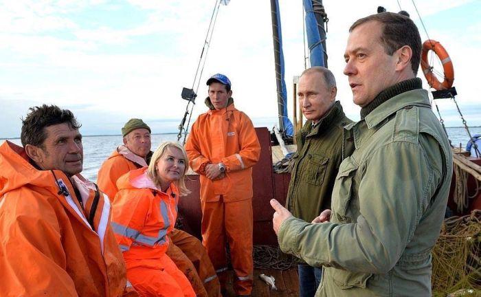 Очень случайная встреча с рыбаками