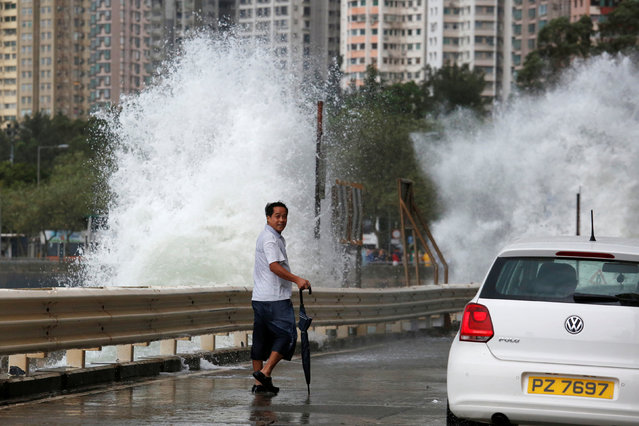 Typhoon Haima Hits Hong Kong after Slamming Philippines
