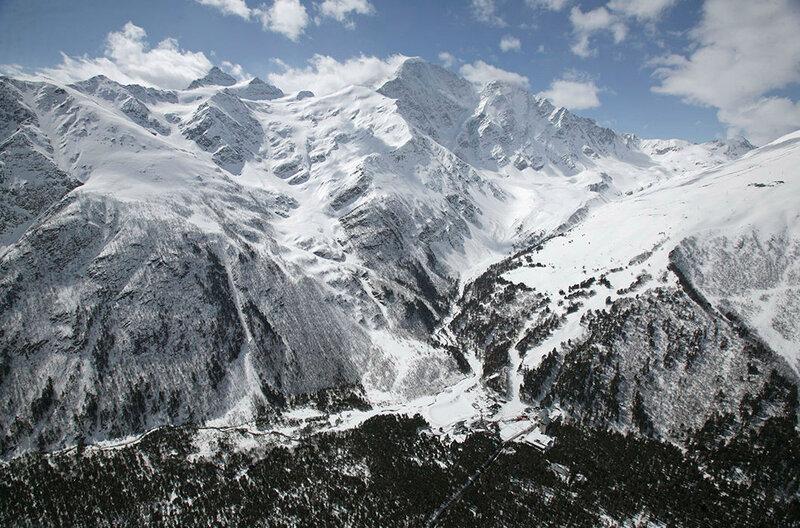 Главный кавказский хребет. Приэльбрусье. Кавказ. Кабардино-Балкария