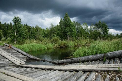 Ветшает без людей...<br>Кенозерский национальный парк. Лёкшмозеро. Река Челма.