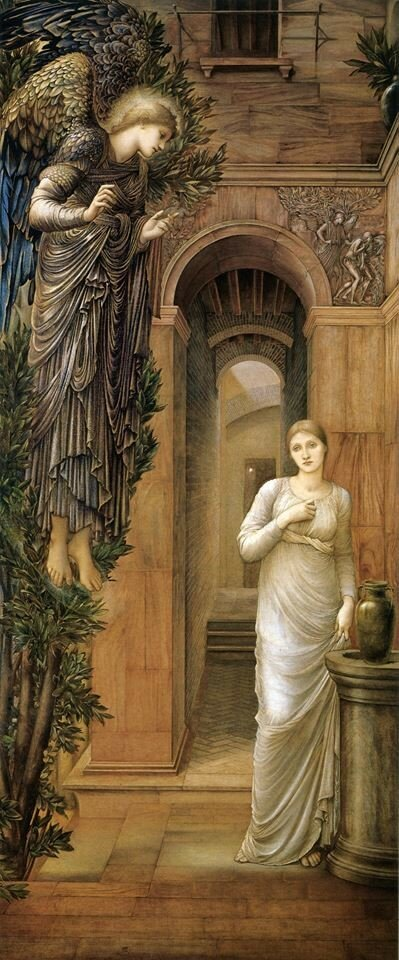 Edward Burne-Jones. The Annunciation, 1876-1879.jpg