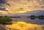 Закат на реке Сясь