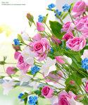 Эти цветы слеплены из полимерной глины. Ручная работа