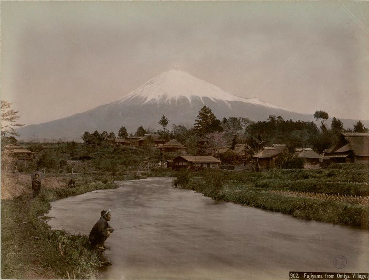 Фудзияма из деревни Омия
