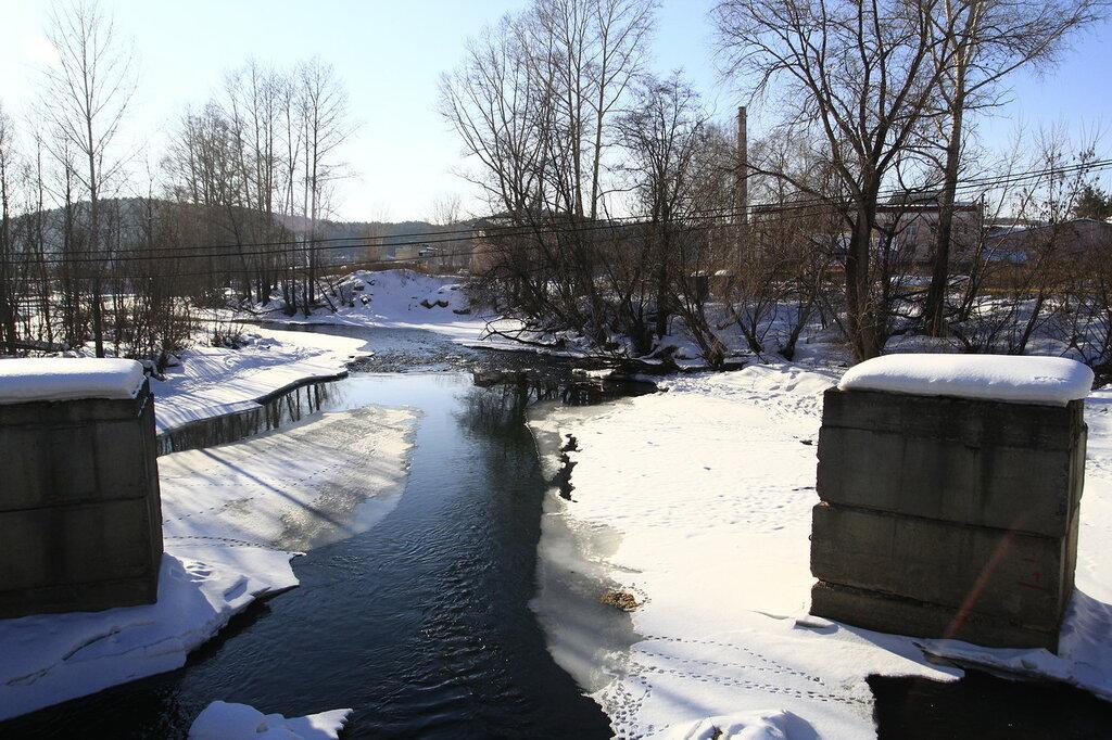 Река Куса с моста