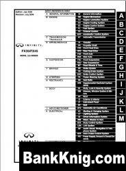 Книга Infiniti FX35/FX45 series S50 service manual. Edition July 2006