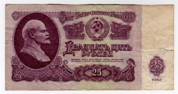 Купюры советских времен с ценами на товар