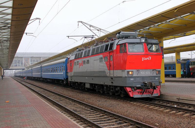 ЧС4Т-472 на станции Минск приписки депо Вязьма