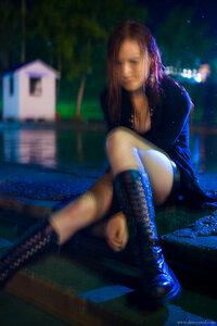 3 девушка, Misty, портрет, ночь, город