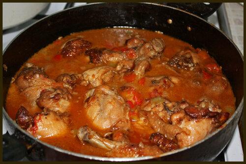 Тушеная курица луком рецепт с фото