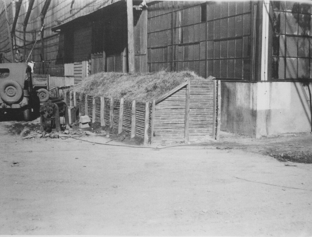 Air Raid shelter, Dec 1945