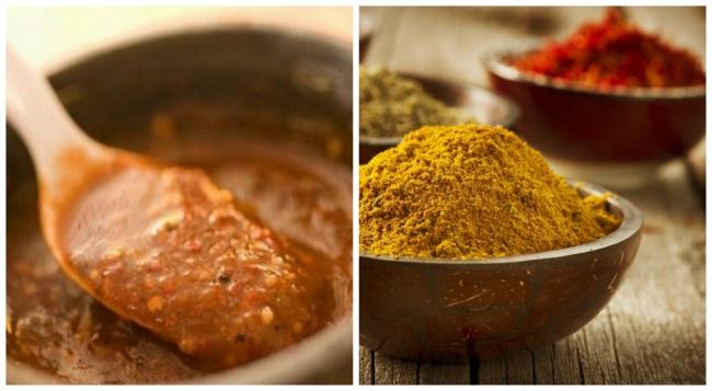 Карри— очень насыщенный иаппетитный соус, который подойдет клюбому мясу, рыбе иптице, как подлив