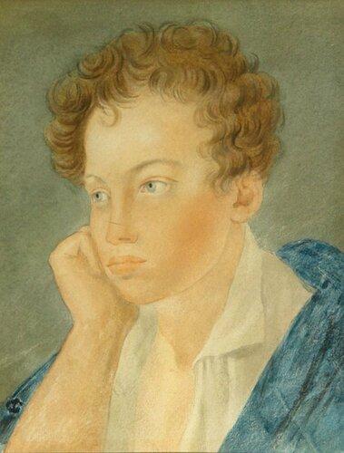 Сергей Гаврилович Чириков. Пушкин. Акварель. 1810 год