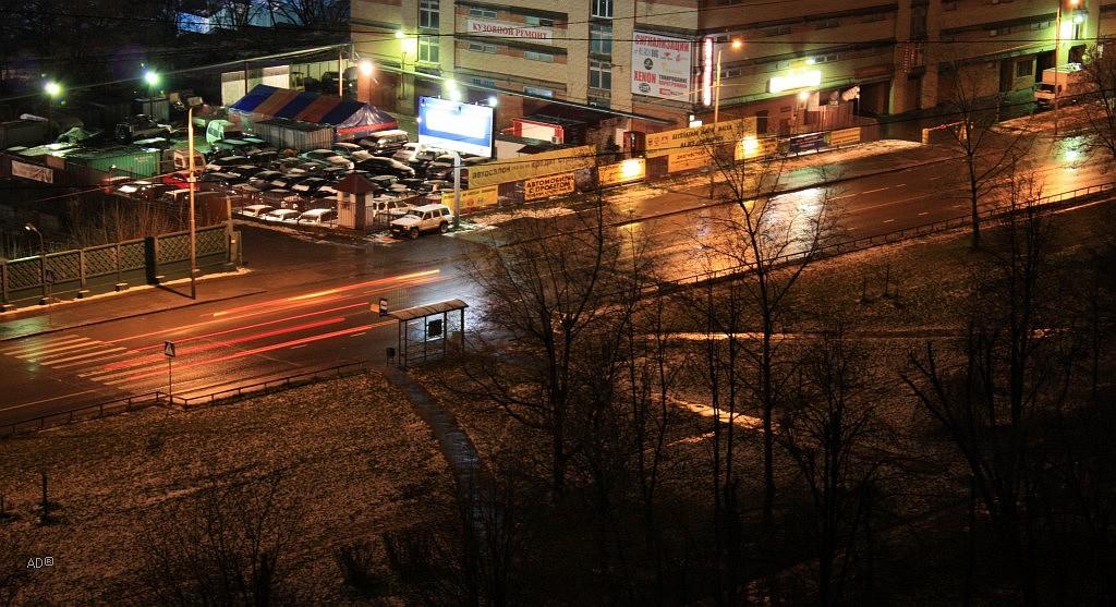 первый снег комом..