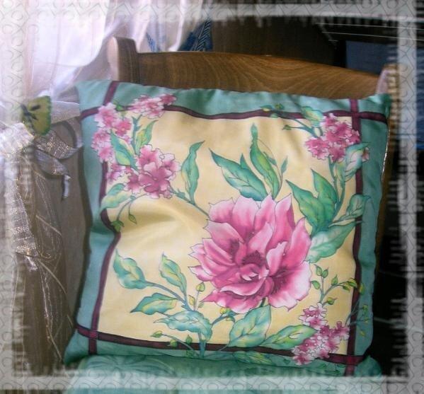 батик цветы наволочка для подушки