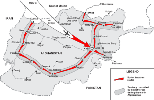 SovietInvasionAfghanistanMap