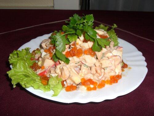 Салаты.  Рецепты салатов.